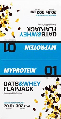 Myprotein MyBar Oats und Whey (Hafer-Proteinriegel) Chocolate Chip 18 x 88 g, 1er Pack (1 x 1.584 kg)