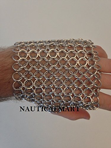 Nickel Free Aluminum Fingerless Chainmail Metal Silver Steel Armor LARP Fantasy Womens Costume by NAUTICALMART