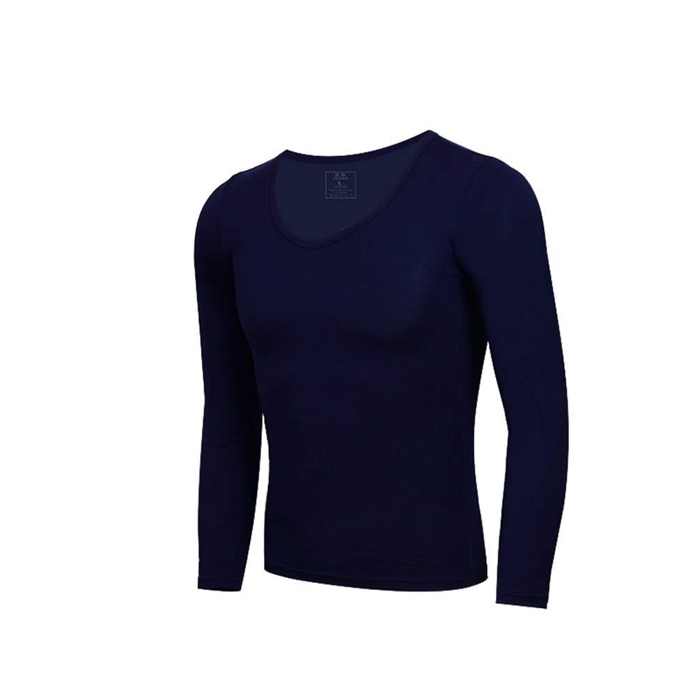 YiLianDa Camiseta Hombres C/ómodo Body Shaper La Camisa De Compresi/ón De Manga Larga Cuello En V