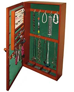 HANGING MIRRORED JEWELRY ARMOIRE
