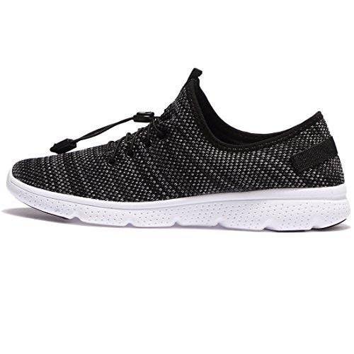 Women High Comfortable Mens Walking Elastic For CHUI Black Shoes Lightweight Sneakers Knit 6vTt1qw
