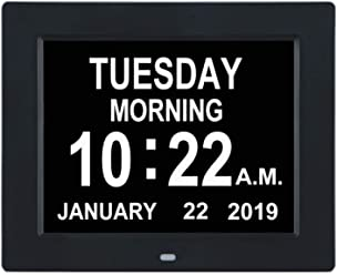 TMC [Newest Version] Digital Calendar Day Clock -Extra Large Impaired Vision Memory Loss