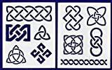 Celtic Knot Stencils 8'' X 10'' Mylar 2 Pieces of 14 Mil - Painting /Crafts/ Templates