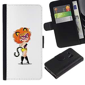 // PHONE CASE GIFT // Moda Estuche Funda de Cuero Billetera Tarjeta de crédito dinero bolsa Cubierta de proteccion Caso Samsung Galaxy S3 MINI 8190 / Sexy Foxy Cat Lady /
