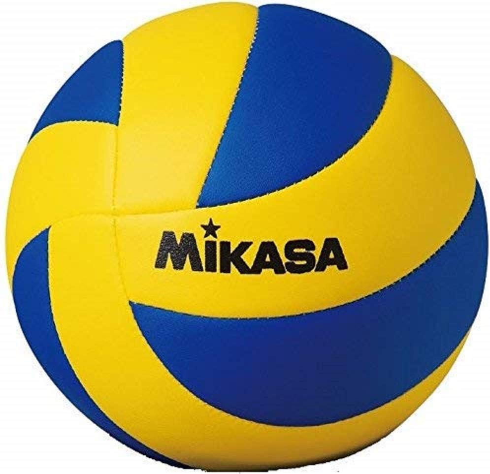 Mikasa MVA 1.5 - Pelota de mini voleibol , Amarillo y azul, 15 cm ...