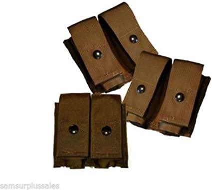 NEW Eagle 40mm Grenade Double Pouch Military Khaki Lot of 2 USA