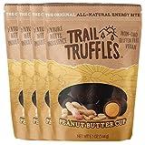 Trail Truffles – Plant Based Vegan Energy Bite Balls – Peanut Butter Cup, 4 packs