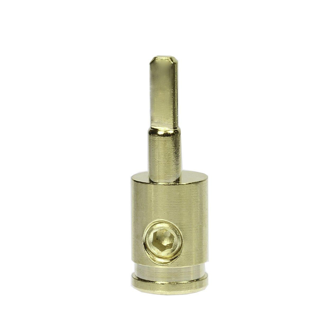 Pair (2) of Car Audio 4 Gauge to 8 Gauge Amp Input Gold Reducers