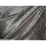 Tessuto di velluto stretch, ampiezza 150 cm, colore grigio argentato