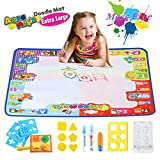 super why alphabet - Aqua Magic Doodle Mat Large Educational Water Drawing Mat for Kids Toy Toddler Painting Board with 2 Magic Pens, 1 Magic Brush, and Drawing Accessories for Boys Girls Size 30.3'' x 30.3''