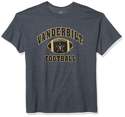 Elite Fan Shop NCAA Men's Vanderbilt Commodores Football T-shirt Dark Heather Vanderbilt Commodores Dark Heather X Large