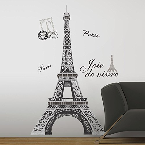 (Eiffel Tower Peel & Stick Giant Wall Decal 27 x 40in)