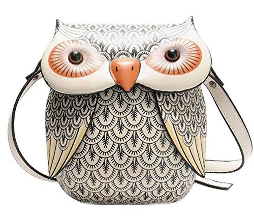 (Fashion Characteristic Owl Design Mini PU Shoulder Bag Cross-Body Bag)
