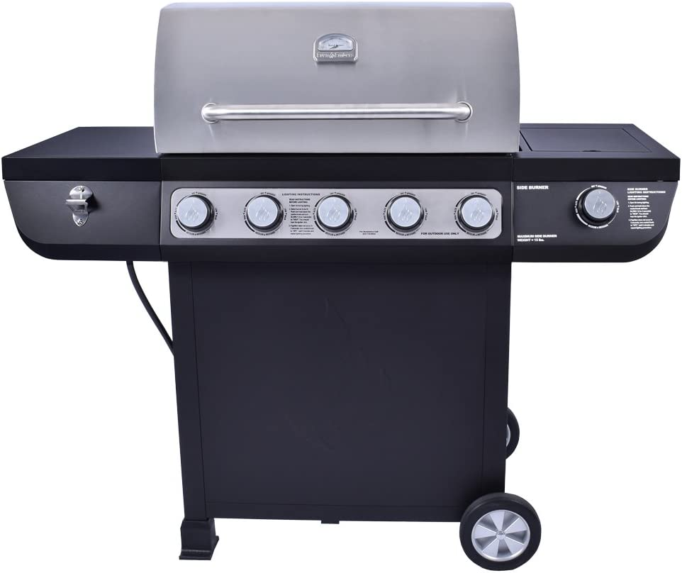 Even Embers 5-Burner Propane Gas Grill with Side Burner