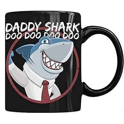 Daddy shark Mug, Daddy Shark Mug Coffee Mug 11oz & 15oz Gift Black Tea Cups
