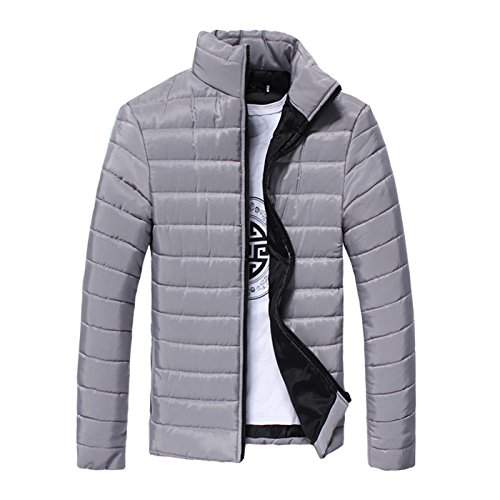 slim collar Winter padded cotton silvery fashion jacket M leisure men's men's HHY qRS1x