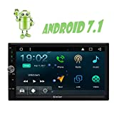 EinCar 7?¡À Upgraded Android 7.1 Quad Core Double Din Car Stereo Car no DVD Player with GPS Navigation Wifi Bluetooth Capacitive Touchscreen Support 4G FM/AM Radio RDS USB SD