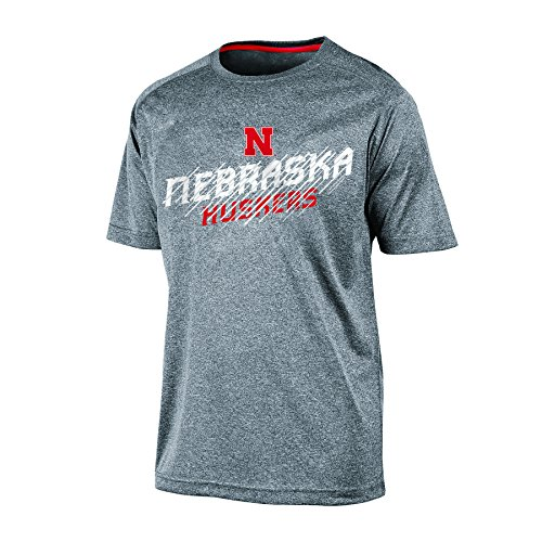 Nebraska Cornhuskers Ncaa Tee (NCAA Nebraska Cornhuskers Men's Short sleeve Crew Neck RA Tee, Large, Gray Heather)