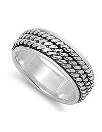 925 Sterling Silver Spinner Ring Ring