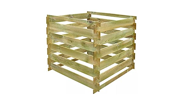 WEILANDEAL weilan Deal Madera compostador kompostbehalter Tableros de Madera Plaza 0, 54 m3kompostbehalter with Material: Madera de Pino, Grun impragniert ...