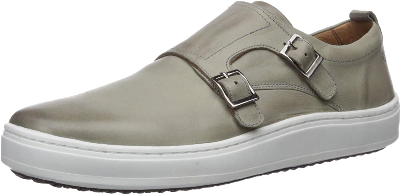 Safety and trust Brothers United Mens Leather Luxury on Sneaker Fashionable Double Monk Slip