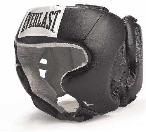 - Everlast 620401 Amateur Head Gear with Cheeks Black L