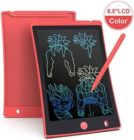 Arolun Bunte Schreibtafel LCD Kinder 8.5 Zoll Bildschirm, Elektronisches Schreibtablet mit hellere Schrift, Digitale Maltafel mit Anti-Clearance Funktion,Super als Geschenke (Rot)