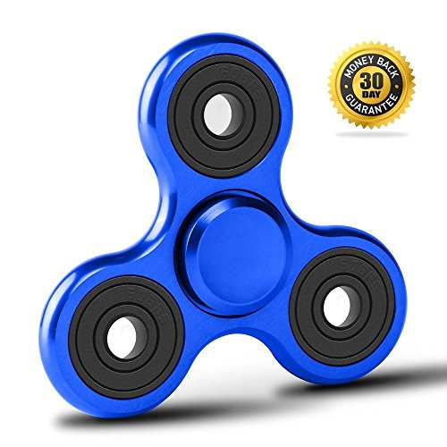 - Vivahouse Fidget Spinner   Hand Spinner Stress and Anxiety Relief Toy   ADHD, Autism, ADD   Promotes Calming Clarity and Focus   Quiet, Spinning Aluminum Alloy Gadget   Pocket Size (Blazing Blue)