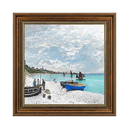 Dzhan Wall Art for Living Room Canvas Prints Oil Paintings Reproduction by Claude Monet Framed Decorative Home Decor 23x23 Inch by Dzhan