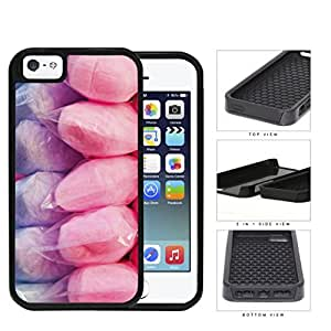 Purple And Pink Cotton Candy 2-Piece Dual Layer High Impact Rubber Silicone Cell Phone Case Apple iPhone 5 5s