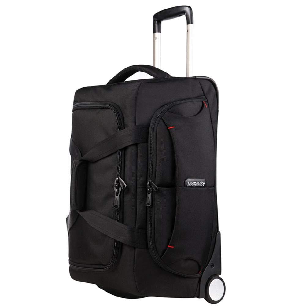 トラベルバッグトロリーケースマルチバッグデザインオックスフォードビジネストラベル荷物スーツケース持ち運び荷物耐久性ホールド TINGTING (色 : 黒, サイズ さいず : 53.5*27.5*32.5) B07PKF3F2W 黒 53.5*27.5*32.5
