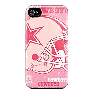 Durable Case For The Iphone 4/4s- Eco-friendly Retail Packaging(dallas Cowboys)