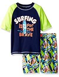 Boys' Surf Board Rash Guard Set