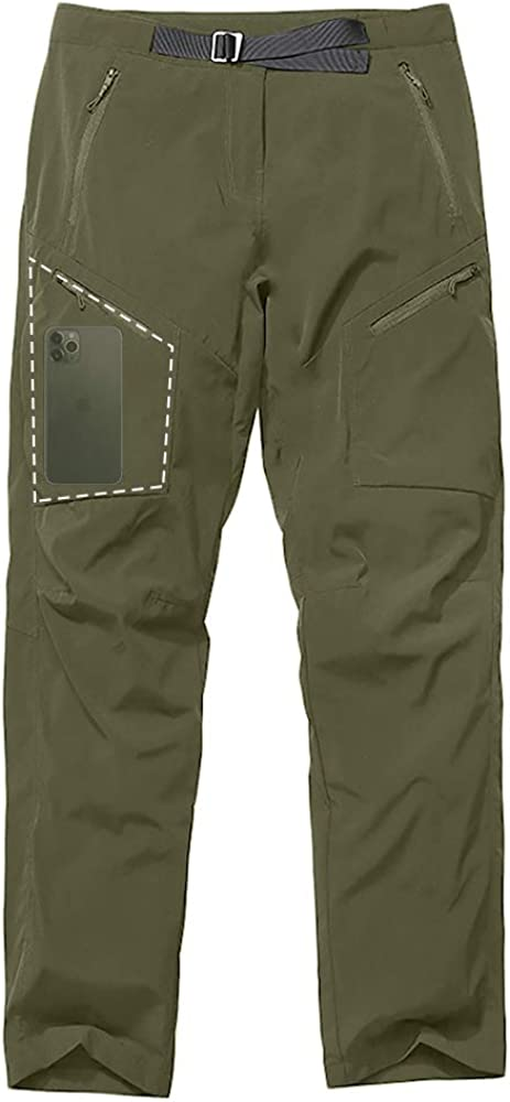 Women's Hiking Pants UPF 40+ Quick Dry Stretch Lightweight Cooling Loose fit Pants with Zipper Pockets