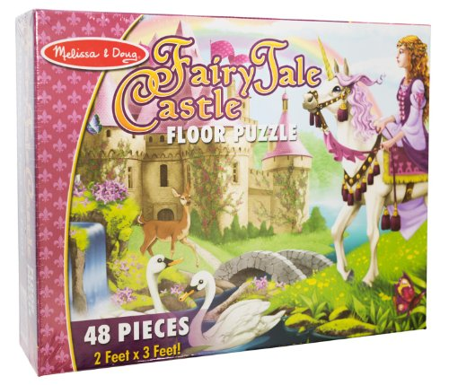 Fairy Tale Castle: 48-Piece Floor Puzzle + FREE Melissa & Doug Scratch Art Mini-Pad Bundle [44271]
