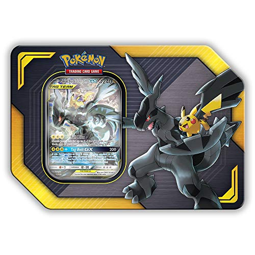 Pokemon TCG: Sun & Moon Team Up Collector's Tin Containing 4 Booster Packs and Featuring A Foil Pikachu & Zekrom GX ()