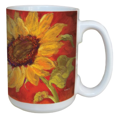 (Tree-Free Greetings lm43715 Sunflower Prima Donna by Nel Whatmore Ceramic Mug, 15-Ounce)
