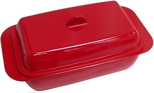 Amazon.com: Mantequilla Plato – melamina – Color Rojo ...