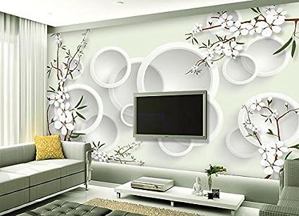 Lovely Lwcx Large Mural Modern Elegant Flower 3D Wallpaper Living Room Bedroom Tv  Sofa Background Wall G