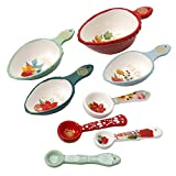 #4: The Pioneer Woman Measuring Cups Spoons WInter Bouquet 8 Piece Set