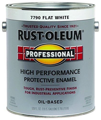RUST-OLEUM 7790-402 Professional Gallon Flat White Enamel