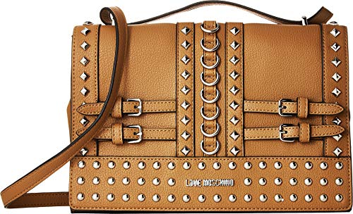 - LOVE Moschino Women's Shoulder Bag with Belt Studs Camel One Size