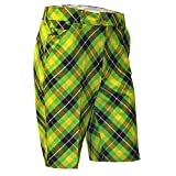 Royal & Awesome Plaid Electric Crazy Mens Golf Shorts