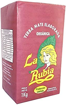 La Rubia Organic Yerba Mate with Stems 1 kg (2.2 lbs)