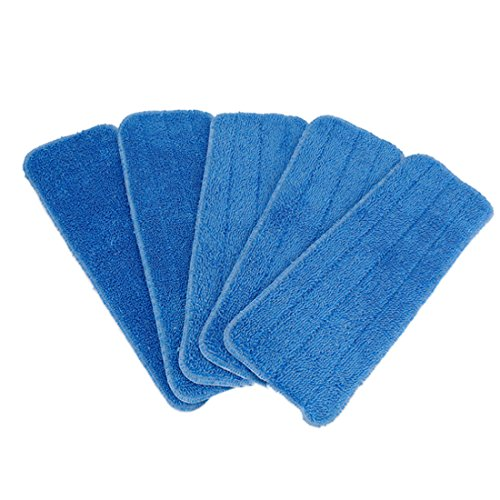 PeleusTech® Mop Refill Pad, 5PCS 15inch Replacement Paste Microfiber Cloth Cleaning Pad Cover (Dry and Wet cleaning) - (Blue)