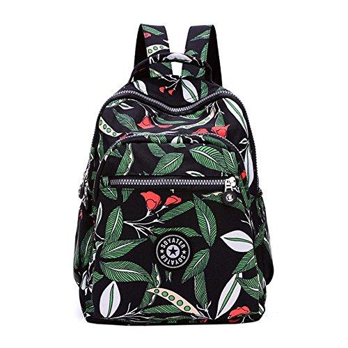 WTUS Mujer venta al por mayor de nuevo la mochila mochila de Oxford Verde