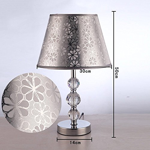 HOMEE Ideal reading light-- european minimalist modern pastoral crystal table lamp living room study bedroom bedside table lamp (multiple styles available) --desk and bedside lighting,Power switch bu by HOMEE