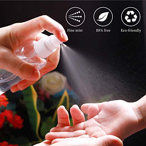 Leak Proof Travel Bottles, Lotion Bottle, PET Plastic Bottles Clear Refillable Bottles with Press Disc Flip Cap plastic Travel Bottle for Cosmetic Conditioner Shower Gel