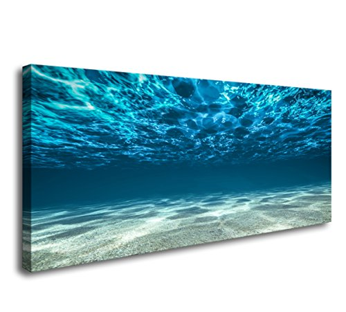 S00750 Print Artwork Blue Ocean Sea Wall Art Canvas Prints Picture Seaview Bottom View Beneath Surface Pictures Painting On Canvas Modern Seascape Home Office Decor - Print Artwork Art
