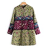 Womens Coats, Vintage Plus Size Winter Warm Outwear Button Plaid Print Pocket Oversize Jacket ODGear